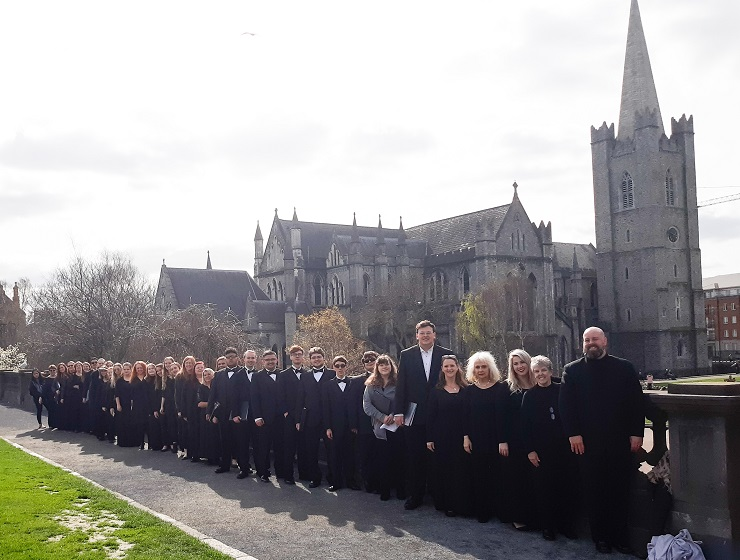 The University/Community Chorus at St. Patrick's Cathedral in Dublin, Ireland
