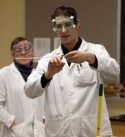 NSU Students participating in an experiment
