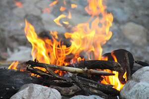Divine Earth Gardening Project burning fire