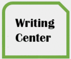 Thumbnail with words WRITING CENTER WEBSITE
