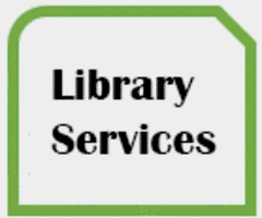 Thumbnail with words LIBRARY WEBSITE