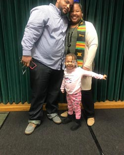 Photo of Ashley Steele and family.