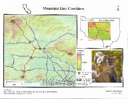 nsu geography student created map of mountain lion corridors