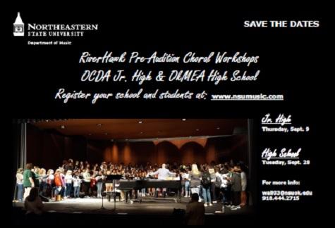 choral workshop save the date postcard